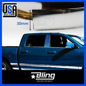 16feet Molding Trim Strip 30mm Wide Moulding For Car Accessory Exterior Decorate