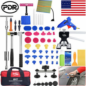 74 Us Pdr Paintless Dent Repair Slide Hammer Puller Tools Kits Hail Removal Tap
