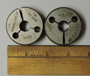 Set Of Thread Ring Gages Inspection Tool G A Co 469 32 Uns 2a