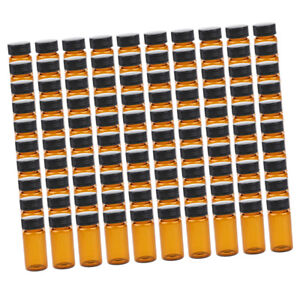 100pcs Liquid Sampling Sample Glass Bottles Vials Screwcap 20ml 15ml 10ml