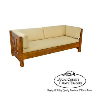 Stickley Mission Oak Collection Settle Sofa B