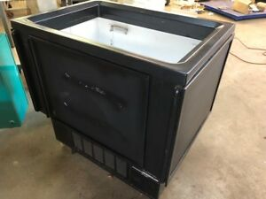 Aucma Sd 160k Black Open Air Merchandiser Impulse Spot Ice Cream Cooler Freezer