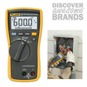 Fluke 113 True rms Utility Multimeter With Display Backlight 600v Voltage