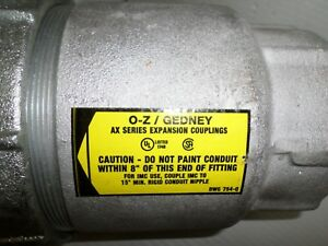 new Oz Gedney Ax 400 Expansion Coupling 4 npt Fitting 4 Movement