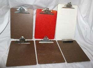 Vintage Lot Of 6 Clipboards Service Saunders Skilcraft Offical