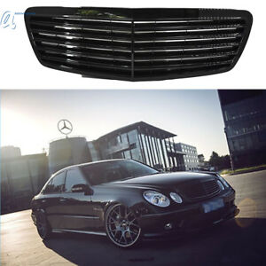 Full Black Grille Grill For Mercedes W211 E Class E320 E350 E500 E55 02 06 Us