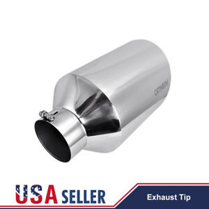 5 Inlet 10 Outlet 18 Long Stainless Steel Diesel Exhaust Tip Pipe Bolt On