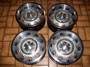 4 Oem Mopar 14x6 Rally Rallye Wheels Center Caps Rings 4 1 2 lugs 3580068