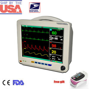 Medical Multi parameter Icu Ccu Patient Monitor Ecg Nibp Spo2 Pulse