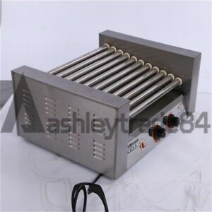 2 06kw Commercial 11 Roller Hot Dog Grill Cooker Machine 220v
