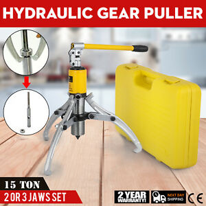 15t Hydraulic Bearing Gear Puller Wheel Separator With Box 2 Or 3 Jaws 300 Mm