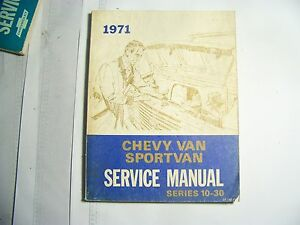 Chevrolet 1971 Chevy Van Sport Van Service Manual Series 10 30