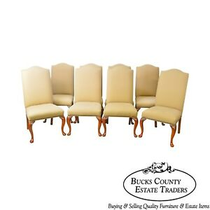 Lexington Bob Timberlake Set Of 8 Cherry Upholstered Dining Chairs
