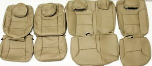 2012 2013 Toyota Tacoma Double Cab Base Sand Leather Upholstery Seat Cover Set