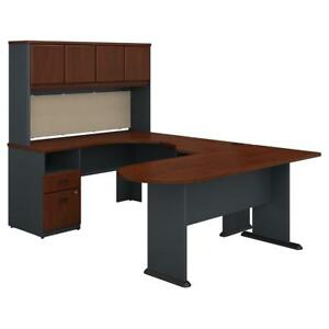 Series A U Shaped Desk With Hutch Peninsula And Storage