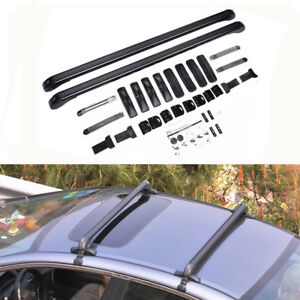 Universal Aluminum Car Top Luggage Roof Rack Cross Bar Cargo Carrier Adjustable
