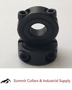 1 1 2 Bore Double Split Steel 2 Pcs Clamping Shaft Collar Black Oxide