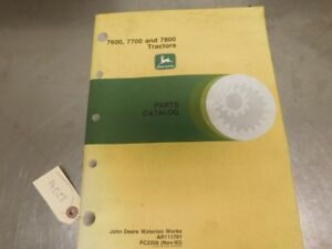 John Deere Tractor Parts Catalog Pc2309 12291