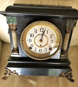Antique Seth Thomas Clock 1880 Marble Working