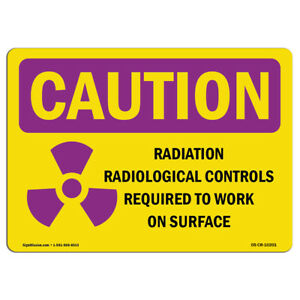 Osha Caution Radiation Sign Radiation Contamination Radiological With Symbol