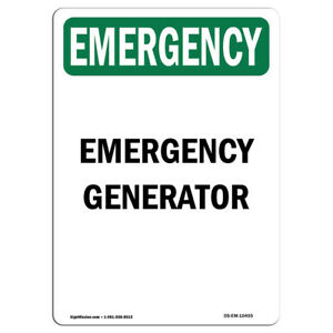 Osha Emergency Sign Generator made In The Usa