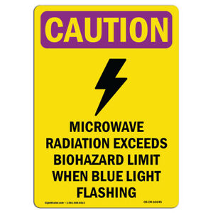 Osha Caution Radiation Sign Microwave Radiation Bilingual made In The Usa