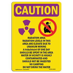 Osha Caution Radiation Sign Radiation Area Radiation Levels With Symbol