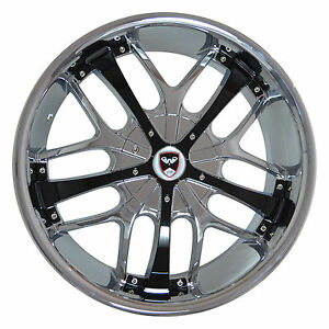 4 Gwg Wheels 20 Inch Chrome Black Savanti Rims Fits Lincoln Blackwood 2001 2002