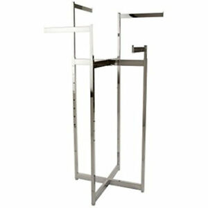 Chrome 4 Way Folding Rack
