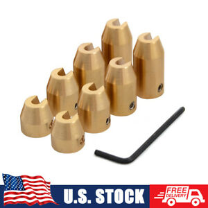 8pcs Reusable Brass Wheel Spoke Balance Weights 4 size With Hex Wrench Tool