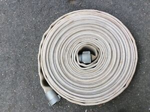 75 Foot Vintage 1 1 2 Fire Hose With Aluminum Fittings In Good Condition