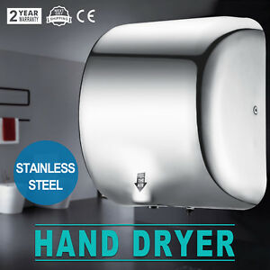 1800w Commercial Auto Hand Dryer High Speed Stainless Steel Auto stop Function