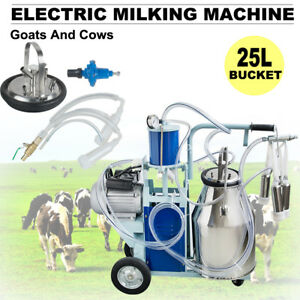 Electric Milking Machine Vacuum Piston Pump Milker For Farm Goats Cows Dairy Usa
