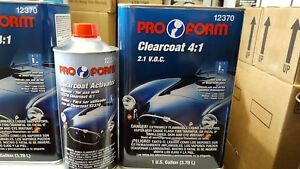 Pro Form Urethane Clearcoat With Activator 4 1 Standard Activator