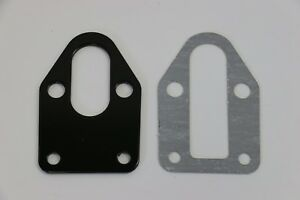 Sbc Black Fuel Pump Mounting Plate With Gasket 283 305 327 350 383 400 Sb Chevy