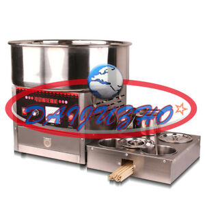 Commercial Upgrade Section 1000w 220v Electric Automatic Cotton Candy Machine