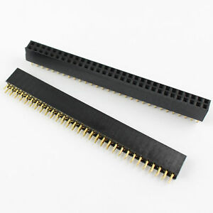 300pcs 2 54mm Pitch 2x30 Pin 60 Pin Female Double Row Straight Pin Header Strip