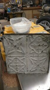 Old Antique Metal Tin Ceiling Tiles Vintage Chic Industrial