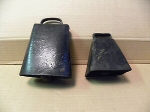 2 Antique Primitive Vintage Cow Bells
