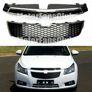 For Chevy Cruze 2011 2014 Front Bumper Upper Lower Grille Pair Set Of 2 Pcs