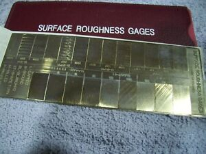 New Fine Quality Surface Roughness Comparator Gage w Carrying Case