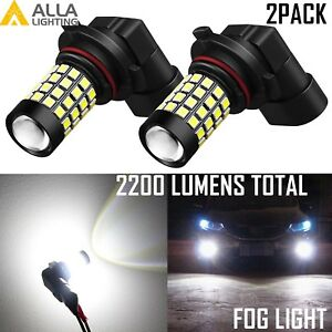 9140 9145 9055 51 Led Fog Light Bulb Driving Lamp Replacement White For Ford 2pc