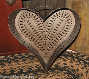 Heart Cheese Grater Mold Primitive French Country Urban Farmhouse Kitchen Decor