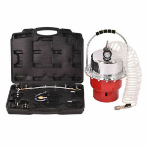 Pneumatic Air Pressure Bleeder Tool Kit Brake Bleeding Garage Workshop Mechanics