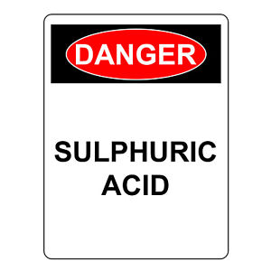 Danger Sulphuric Acid Sign Aluminum Metal Safety Warning Uv Hazardous Signs