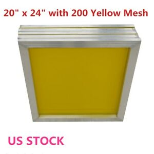 Usa 6pcs Aluminum Screen Printing Frame 20 X 24 With 200 Yellow Mesh