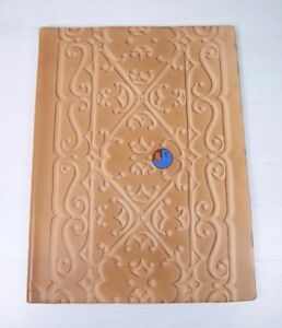 Vintage Ussr Genuine Leather Conference Folder Document Organizer Moscow Export