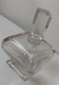 Rare 1920 S Antique Cristalleries De Nancy Myon Clear Crystal Perfume Bottle