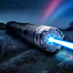 Extreme Powerful Blue Laser Pointer 5 Watt Adjustable Focus 445nm Burning Lazer