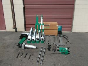 Greenlee 881 Bender 980 Hydraulic Pump 1813 Table Good Cond